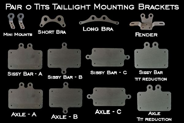 Pair o' Tits Taillight Mounting Bracket Options