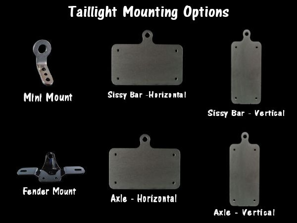 Taillight Mounting Bracket Options